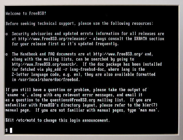 Welcom to FreeBSD